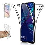 REY - Funda Carcasa Gel Transparente Doble 360º para Huawei Y6 2019 / Y6 Pro 2019, Ultra Fina...