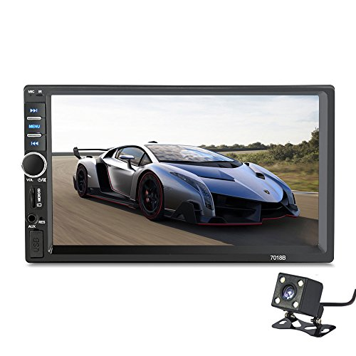 Universal Stereo (2 Din Auto Stereo 7' Universal HD BT FM Radio MP5 Player USB/TF Aux Eingang Kapazitiver Touchscreen Player mit Kamera)