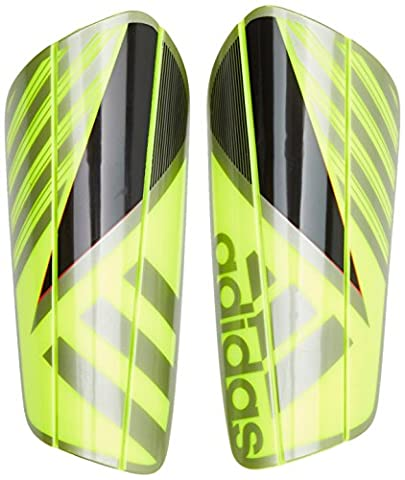 adidas Ghost Pro Schienbeinschoner, Solar Yellow/Core Black/Iron Metallic, S (Shin Wrap)