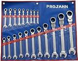 Projahn 3502 GearTech Set de 20 clés mixtes à cliquet avec sacoche