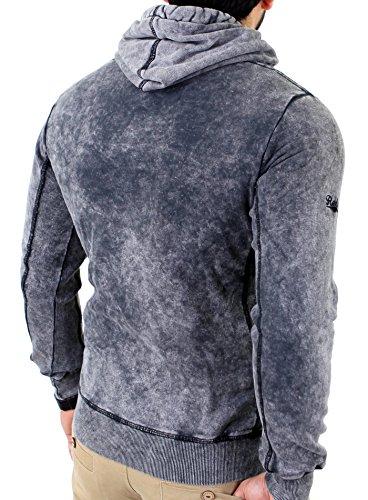 Reslad Herren Premium Vintage Kapuzen Pullover Hoody RS-1151 Anthrazit