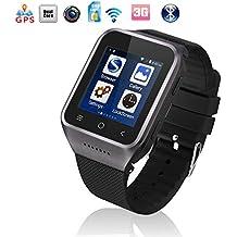 Flylinktech Reloj conectado con Bluetooth, S8-Reloj teléfono móvil 3 g, wi-Fi, GPS Smartwatch Sport Smart Watch compatible con tarjeta SIM para Samsung Smartwatch Sony Wiko Android