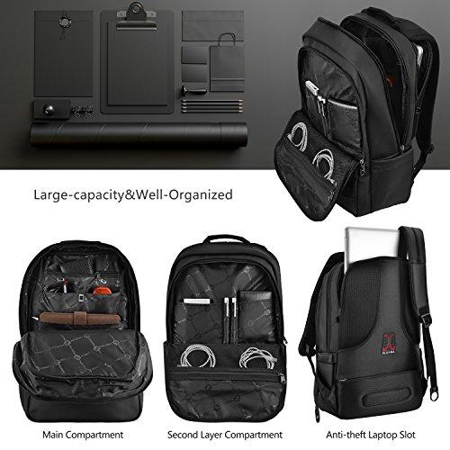 Bild 4 - Slotra Laptop Rucksack 15,6-17 Zoll Wasserabweisend Reisen Outdoor  Mordern 865696f147
