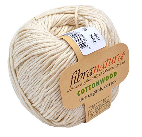 Gründl Fibran Atura Cottonwood 41101-Sand 100% Organic Cotton Cotton Yarn for Crochet & Knitting Yarn Potholder