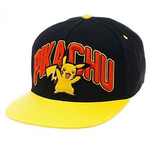 Pokemon-Gorra-de-beisbol-Pikachu-logo-Oficial-nuevo-negro-Snapback