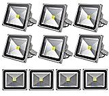 Leetop 10X 30W LED Strahler Kaltweiß Fluter Licht Scheinwerfer Außenstrahler Wandstrahler Aluminium IP65 Wasserdicht