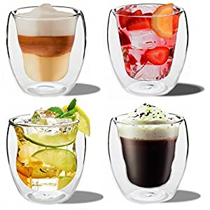 Rink Drink double-wall thermo-insulated drinking glasses, set of 4