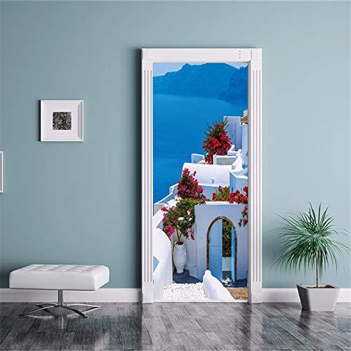 Halloween Tür Aufkleber 3D Tür Aufkleber Türschilder Griechischen Stil PVC Tür Aufkleber Persönlichkeit Kreative Home Fashion ()