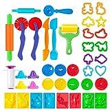 Shopp ingue Ensemble d'Outils de Pâte à Modeler pour Enfants | 41 Instruments pour Création & Sculpture en Plasticine ou Argile | Rouleaux, Scalpels, Extrudeuses, Moules & Tampons en Forme d'Animaux