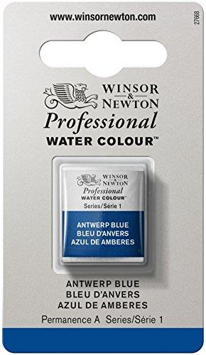 Winsor & newton acquerelli colorati 1/2 godet bleu anvers