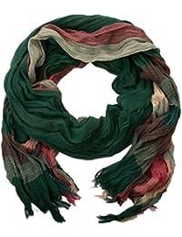 style3 Eleganter Crinkle Schal mit Streifen-Muster in verschiedenen Farben