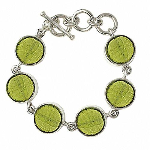 """Gabriella Nanni, Bracelet en argent 925avec verre de Murano-Verre Non déclaré-Bracelet Ronds """" vert clair"""