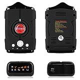 muxan détecteur de Radar, Alerte de Voix et système d'alarme de Vitesse du Automobile avec détection de 360degrés, détecteurs de Radar Voiture en Mode Ville/Route