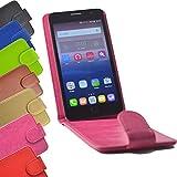 Flip 2 in 1 set Tasche für HiSense HS-U602 Slide Kleber Hülle Case Cover Schutz Bumper Etui Handyhülle in Pink