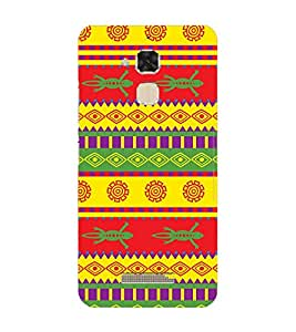 Fuson Designer Back Case Cover for Asus Zenfone 3 Max ZC520TL (5.2 Inches) ( Ethnic Pattern Patterns Floral Decorative Abstact Love Lovely Beauty )