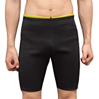 NOVECASA Canotta Sauna Uomo Neoprene/Pantaloncini Sauna Adatta Pantaloni Body Shaper Ginnastica per Sudare, Bruciare i Grassi Fitness Yoga