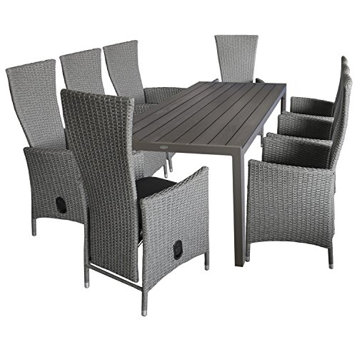 aluminium gartentisch mit polywood tischplatte 205x90cm. Black Bedroom Furniture Sets. Home Design Ideas