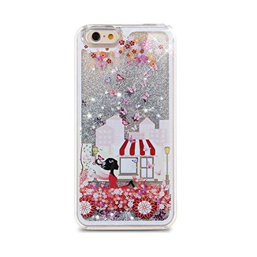 iPhone 6S Plus Hülle Bling,iPhone 6S Plus Hülle Flüssigkeit,iPhone 6 Plus Hülle Glitzer,iPhone 6S Plus Case Transparent,Flüssig Glitzer Case Cover Hülle Tasche Schutzhülle für iPhone 6S Plus,EMAXELERS Angel Girl 4