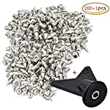 Wobe 200 Pcs 1/4 '' Stainless Steel Spikes with 1 Pcs Spike Wrench