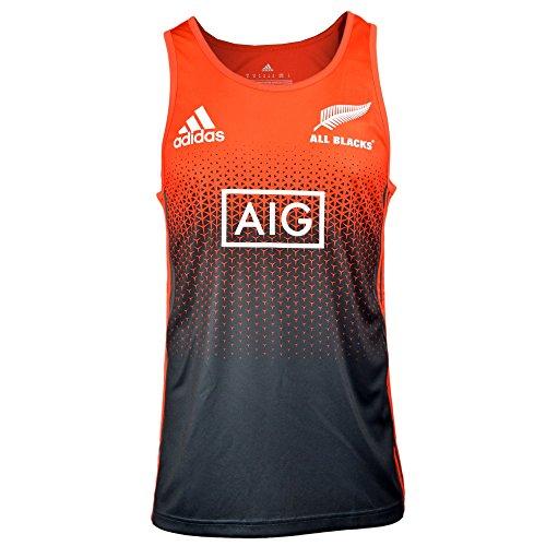 all-blacks-nlle-zelande-2017-18-debardeur-entrainement-de-rugby-joueurs-rouge-energie-blanc-size-s
