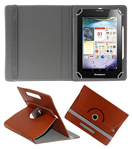 Acm Rotating 360° Leather Flip Case For Lenovo Ideapad A3000 Tablet Cover Stand Brown  available at amazon for Rs.149