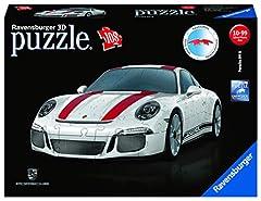Idea Regalo - Ravensburger Porsche 911 - Puzzle 3D Veicoli