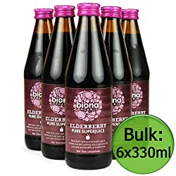 Biona Organic Super Juice - Elderberry Pure 6x330ml