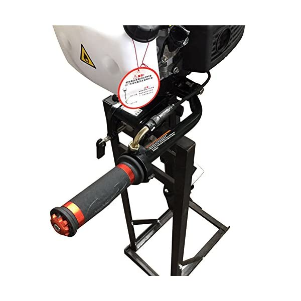 HanSemay 4 STROKE Outboard Engine Boat Motor 4 HP 52CC Air Cooling System Inflatable Boat