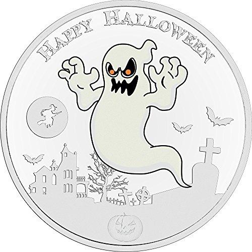 In The Dark 1 Oz Silver Coin 2$ Niue 2017 (Halloween Uomo Idee)