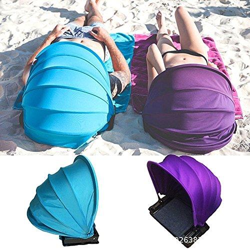 outdoor tent Ultraleichtes Strandzelt Im Freien Einzelnes Tragbares Faltendes Zelt GesichtsSonnenschutz mit Kaltem Kissen,Blue