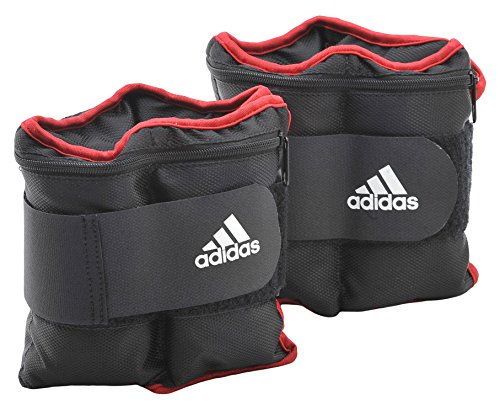 adidas, Pesi da polso/caviglia, Nero (schwarz-rot), 2 x 1 kg