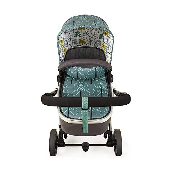 Cosatto Giggle Mix pram and Pushchair in Fjord with car seat Base & raincover Cosatto Includes: Chassis,Seat unit, Hold Car seat,Isofix base,Car seat adaptors,Raincover, Apron and 4 Year guarantee(UK and Ireland only) Suitable from birth up to 15kg. One unit transforms from newborn pram mode into pushchair mode. Space saving. No need to buy separate carrycot.. Colour packs available so you can change the look to suit your mood, family and adventures. Includes hood, pram apron and padded pushchair apron. 4