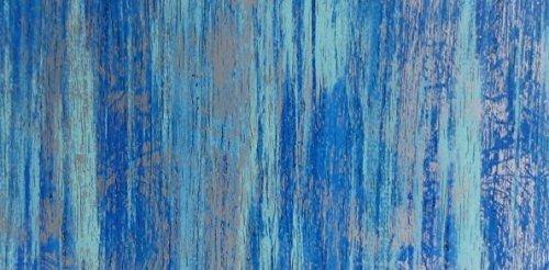 Wachsplatte blau silber, multicolor 20x10 cm - 9775 - Verzierwachsplatte 200x100 mm für Kerzen