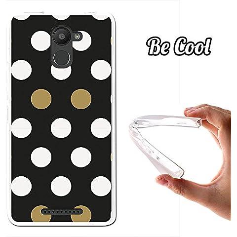 Becool® - Funda Gel Flexible para Bq Aquaris U Plus, Carcasa TPU fabricada con la mejor Silicona, protege y se adapta a la perfección a tu Smartphone y con nuestro exclusivo diseño. Puntos Blancos y