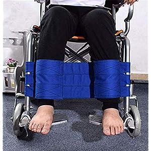 MEYLEE Rollstuhlfußstütze Beinhalt-Strap Seat Seat Belt, Medizinische Sicherheit Transport-Fußspherrening-Gürtel für Ältere und Senioren, Handicap Zubehör (Blau)