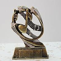 STJK$BMJW Artesanías De Resina Resina Trofeo Decoración Notas Musicales De Oro,12.5*3.5*17.5