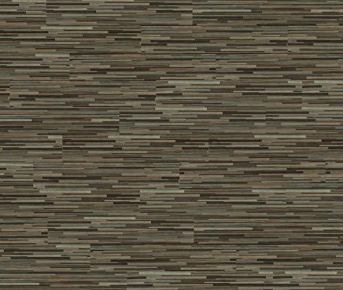 HORI® Klebevinyl Laminat Dielen PVC Design Bodenbelag Dielenboden Vinylboden für Fussbodenheizung und Feuchtraum geeignet I Eiche graubraun Vintage I 12 Dielen im Paket = 3,34 m²
