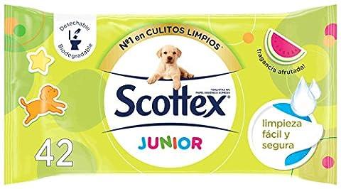 scottex Junior–Papier toilette humide rechange P42–[Pack de 6]