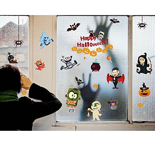 AAAHOMEEU 4 Arten Wandaufkleber Halloween Kürbis Hexe Vinyl Wandbilder Home Decoration (Geschenk von Halloween (Sekunde Kostüme Letzten Der In)