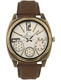 Jack Klein Round Dial Leather Strap Stylish And Elegant Analog Wrist Watch For Men