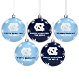 Forever Collectibles North Carolina 2016 5 Pack Bruchsichere Ball Ornament Set