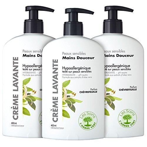 larbre-vert-creme-lavant-pour-main-peau-sensible-chevrefeuille-400-ml-lot-de-3
