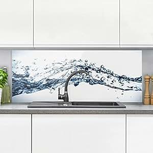 bilderwelten spritzschutz glas water splash panorama