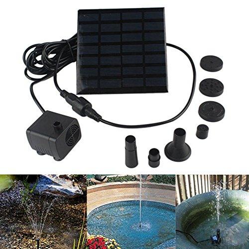 Solarbetriebene, unter Wasser verwendbare Wasserpumpe mit 1,4Watt, als Gartenbrunnen und zur Bewässerung Ihrer Pflanzen -