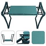 2 in 1 Folding Portable Garden Kneeler Padded Foam Chair Seat Stool - Heavy Duty Metal Construction