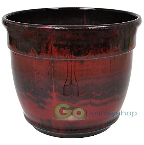 Anglo Eastern 33cmTrading XDL-0876RR Ardente Planter - Ruby