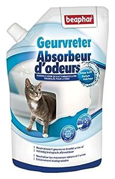 Beaphar Absorbeur d'odeurs en granulés litière du chat, 400 g