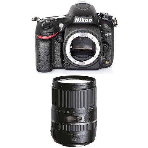 Nikon D610 SLR-Digitalkamera nur Gehäuse schwarz + Tamron 16-300mm Objektiv (Slr-digitalkamera Nikon D600)