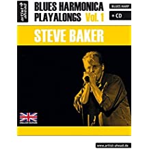 Blues Harmonica Playalongs: Vol.1 (incl. Audio-CD, English edition). Spielbuch für Blues Harp. Lehrbuch. Musiknoten.