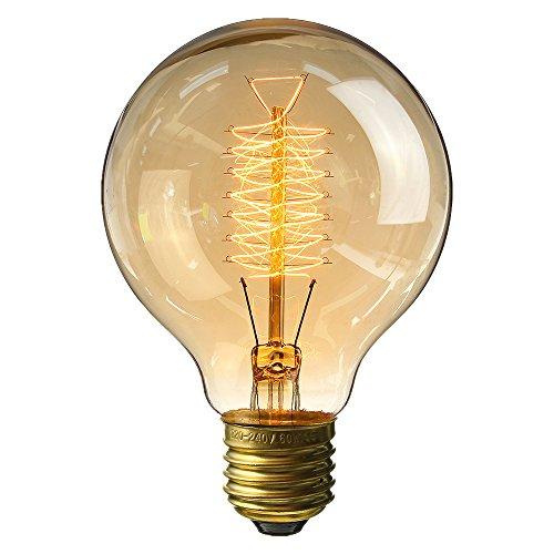 KINGSO-Lampadina Edison vintage retro Globe lampadina a